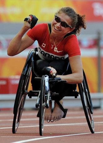 На фото: Мишель Стилвел принимает участие в Паралимпийских играх в Пекине.