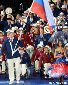На церемонии открытия Игр в Лондоне Ашапатов во второй раз был знаменосцем сборной России