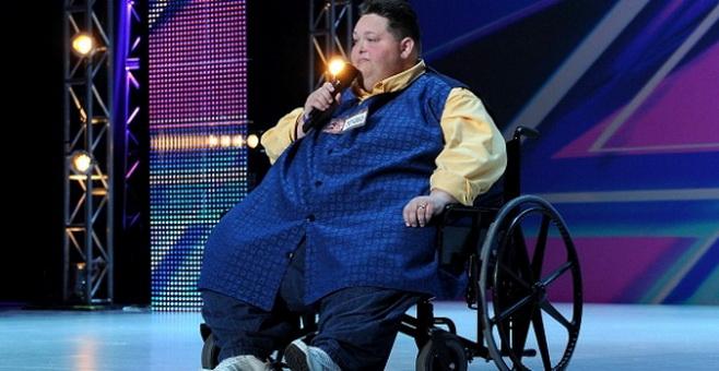 Певец весом 245 кг стал участником шоу талантов