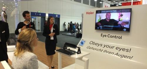 Представлен телевизор, управляемый взглядом Компания Haier демонстрирует на...