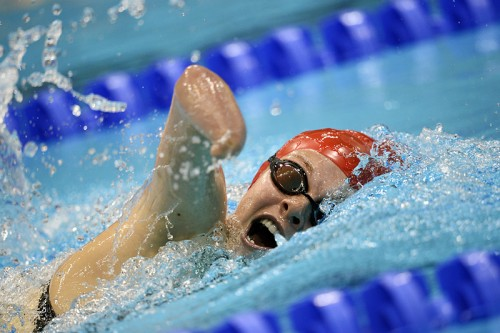 Британка Лорен Стидмен во время заплыва на 400 метров