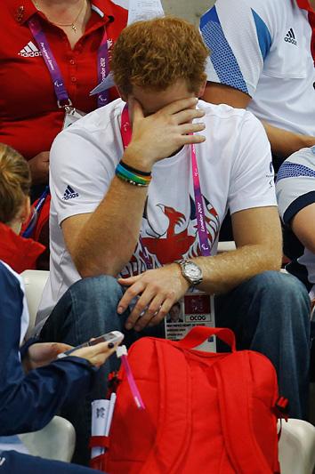 Принц Гарри на трибунах Паралимпийских игр