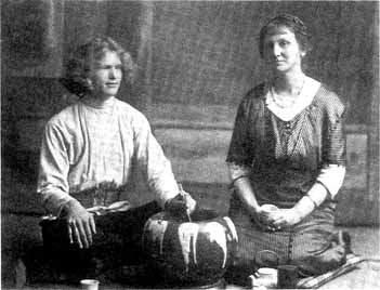Василий Ерошенко и Агнес Александер в Токио (1915 г.)