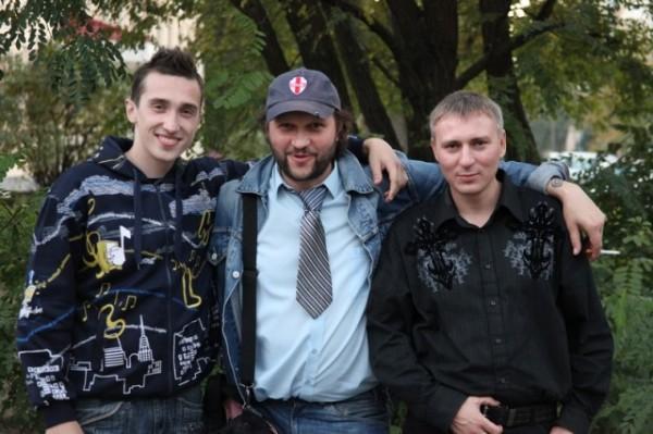 участники группы «ЗКМ» и Валерий Алексеев.www.zkm.by