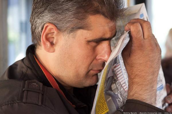 Продавец газет