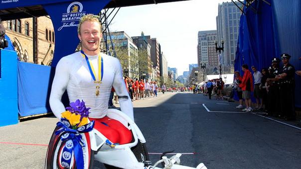 Цель марафона на колясках Бостон-Лондон привлечь лучших спортсменов мира