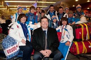 Встреча российской делегации, успешно выступившей на Всемирных зимних играх Специальной Олимпиады в Пьёнчхане (Южная Корея)