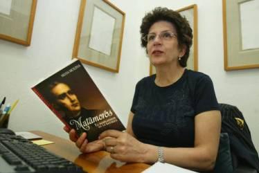 Сильвия Молина на презентации своей книги