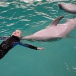 Дельфины Научно-исследовательского центра Вооруженных Сил Украины помогают в лечении детей-инвалидов