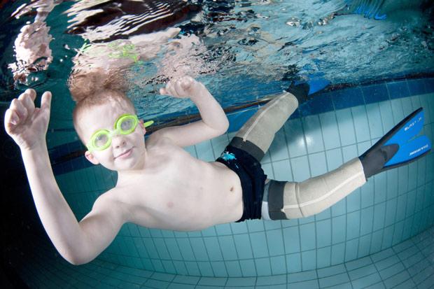 Маленький «ихтиандр» плавает лучше своих сверстников