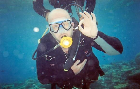 Погружение с аквалангом.