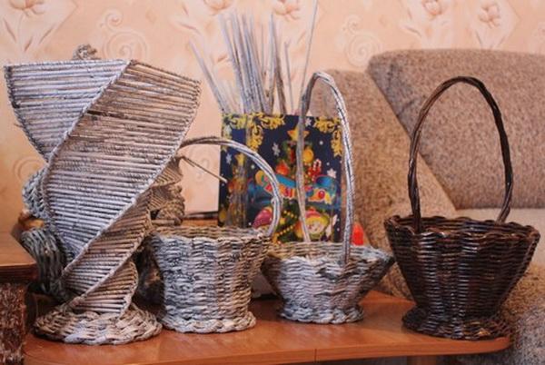 Поделки из старых журналов своими руками вазы