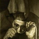 «Портрет женщины с сожжённым лицом». Клин Московской обл. 1979 г.