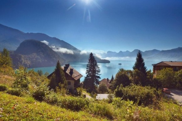 Wolfgangsee in the morning