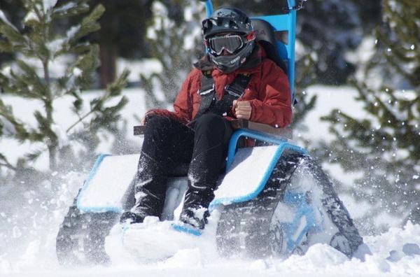 Ziesel: Скоростное кресло на гусеничном ходу