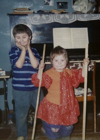 Анатолий и Мария в детстве 1