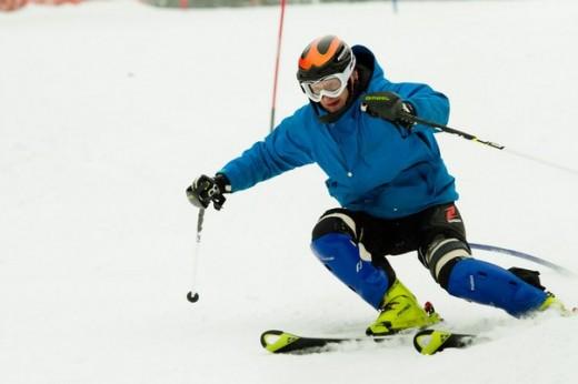 Сергей занимается горными лыжами всего 3 года, но уже добился успеха