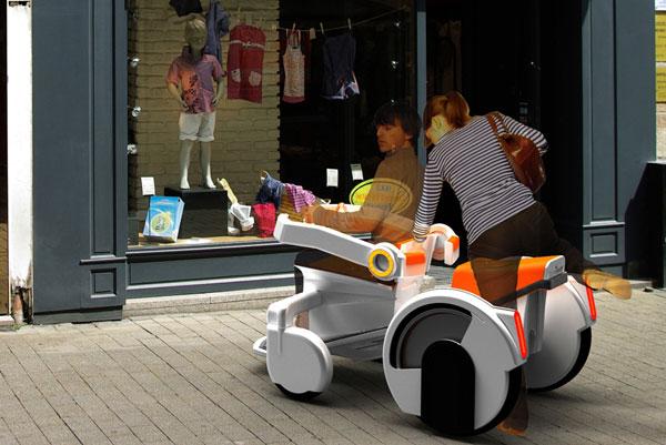 Концепт скутера Tandem: байк для инвалидов-колясочников