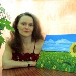 Заключенная в четырех стенах художница путешествует, когда рисует
