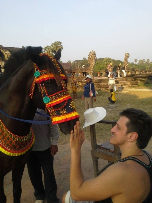 Юрий в Камбодже