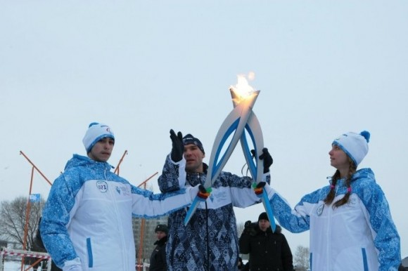 Эстафета Паралимпийского огня в Новосибирске