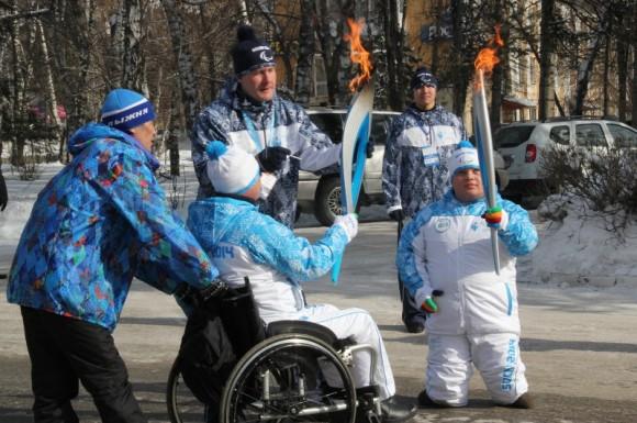 Эстафета Паралимпийского огня в Горно-Алтайске