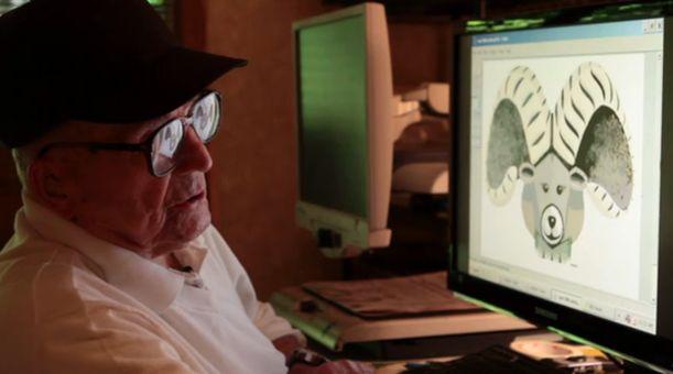 98-летний слепой создает шедевры в Paint