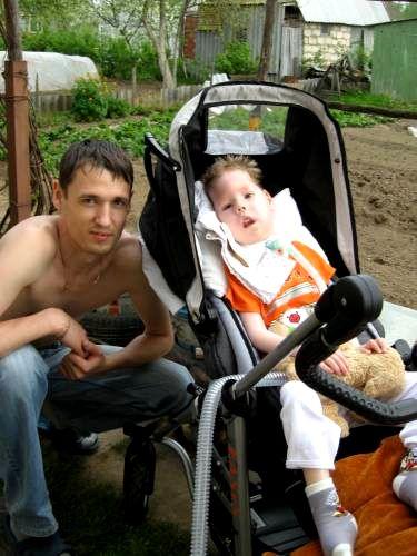 Денис Хабаров с сыном