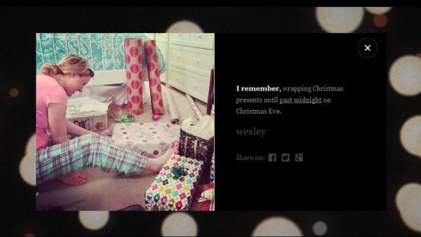 """""""Я помню, как до поздней ночи упаковывала подарки в канун Рождества""""."""