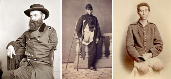 Это фотографии трех из 35000 ветеранов гражданской войны, которые выжили после ампутаций.