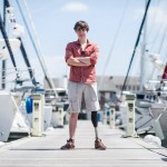 Юный спортсмен получил «бионическую ногу» для яхтинга