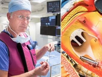 Кардиолог Джон Морган; модель сердца с новым кардиостимулятором. Фото с сайта nhatnet.com