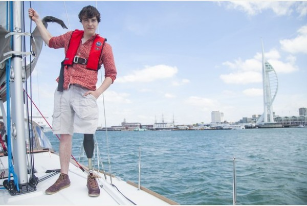 Young sailor gets bionic leg