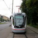 В Москве представили новый низкопольный трамвай отечественного производства