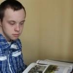 Парень из Луцка стал первым украинским студентом с синдромом Дауна
