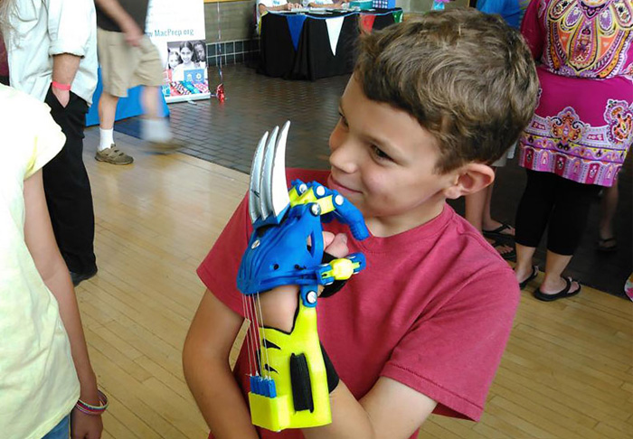 Superhero prosthetic arms kids
