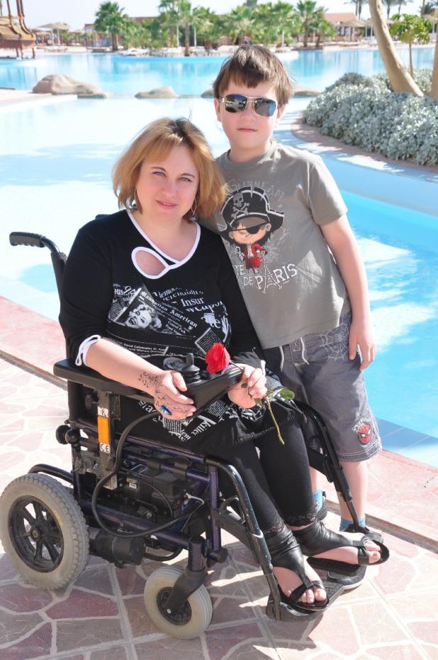 Татьяна Рик с сыном
