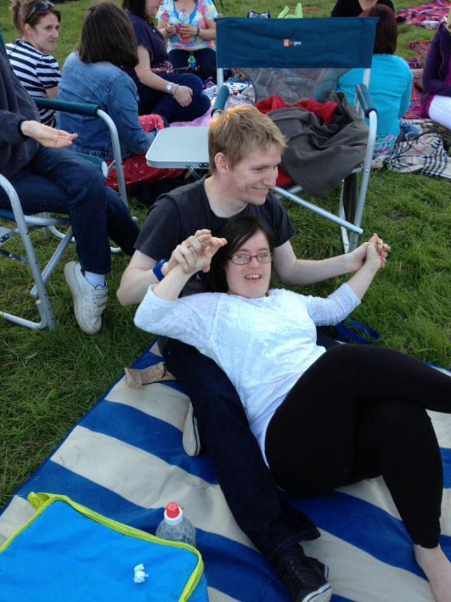 На концерте в парке