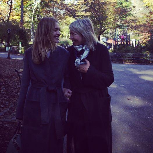В Централ парк в Нью-йорке. Мама Натальи впервые в США