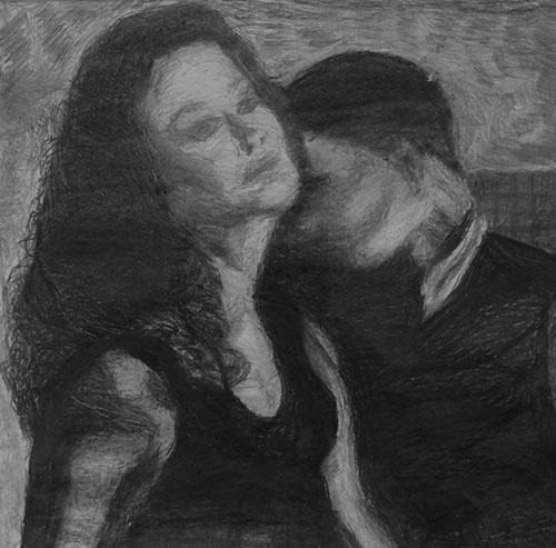Плачущее-танго-графика-простой-и-чёрный-мягкий-карандаш