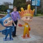 С Лучиком и Снежинкой. Фото: Сергей Кругликов