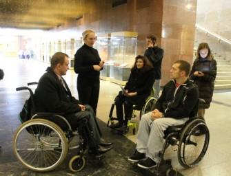 Волонтеры проверили доступность Центрального музея ВОВ на Поклонной горе