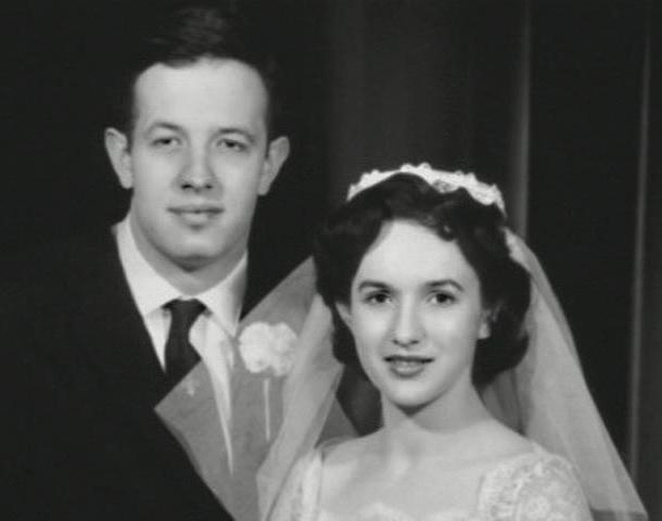 Джон и Алисия в день свадьбы