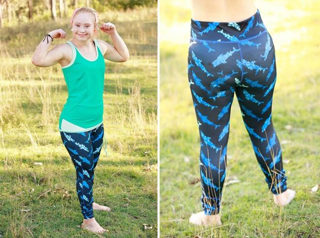 Маделин Стюарт, реклама бренда спортивной одежды