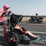 Папа пробежит всю Америку с детской коляской