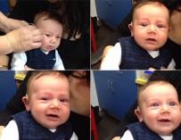 Трогательное видео: малыш впервые услышал родителей