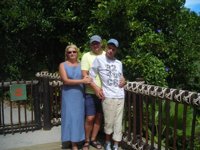 Иван с родителями