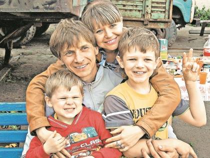 Виталий Смолянец в кругу семьи Фото: личный архив