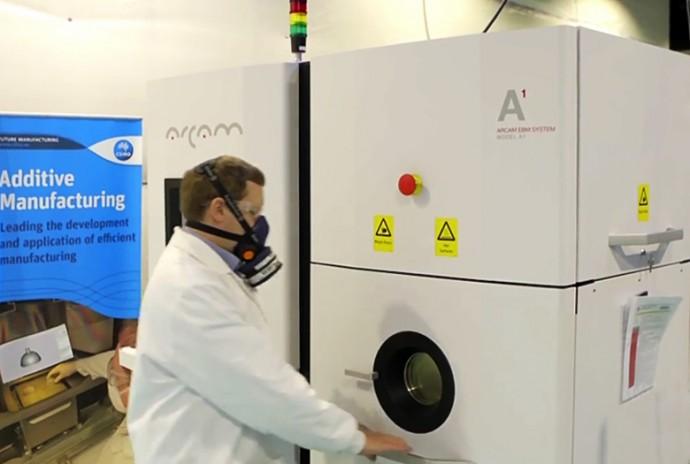 3D-принтер производства Arcam AB с технологией электронно-лучевой плавки (фото: CSIRO).