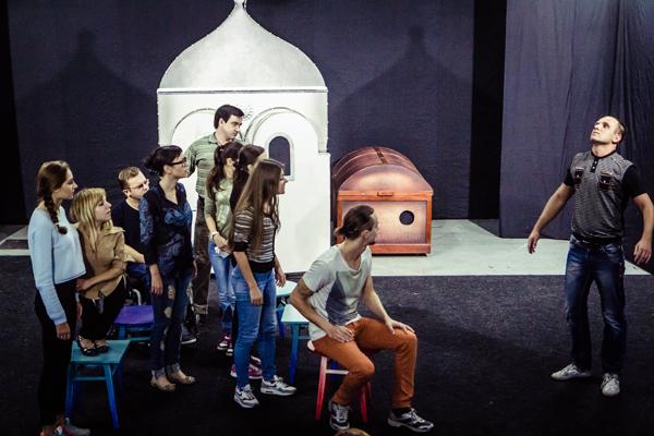 На репетиции «Театра равных». Фото: Александр Нечаев / «Русская планета»